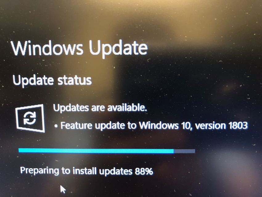 Window 10 version 1803 update...