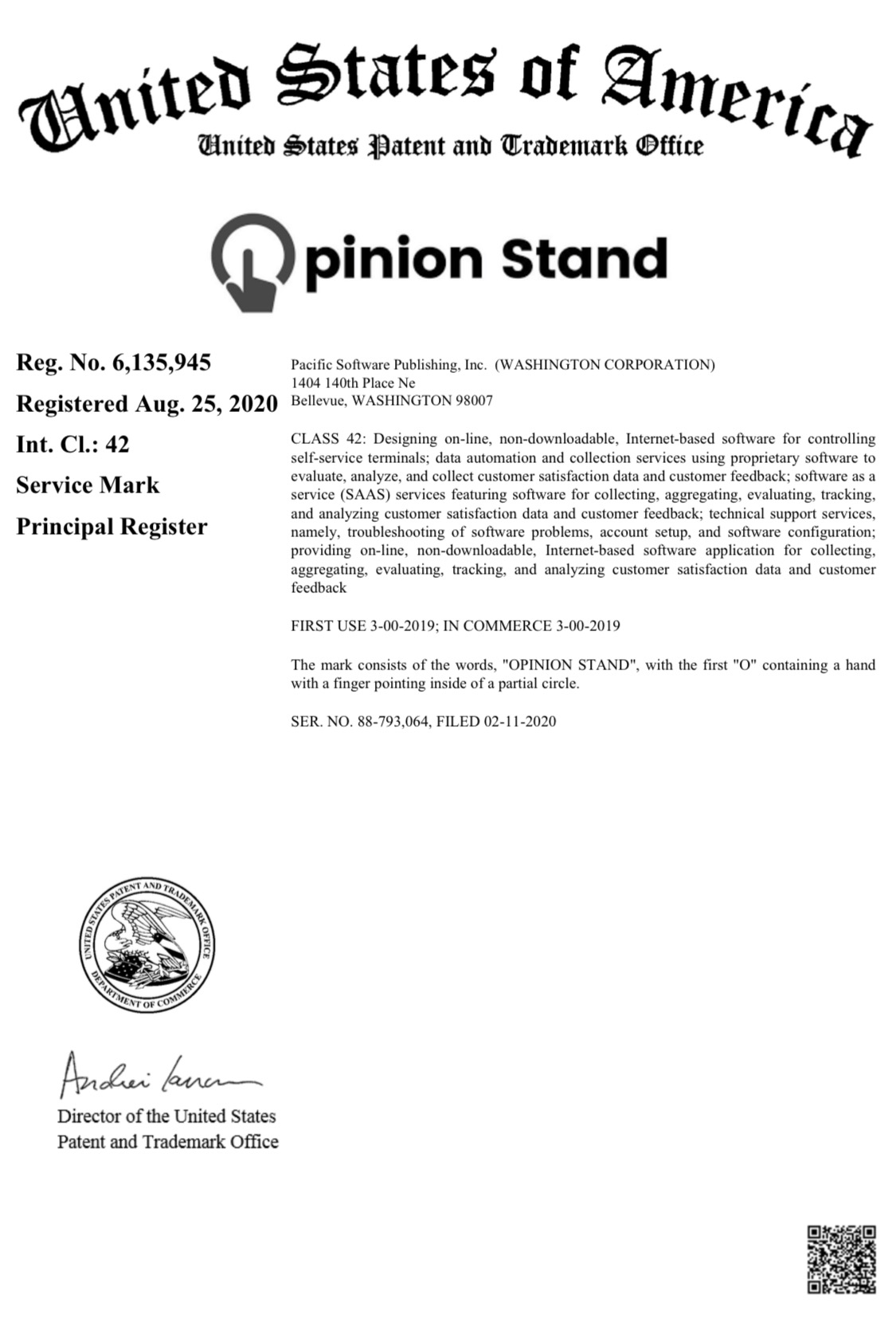 Opinion Stand Logo Trademark