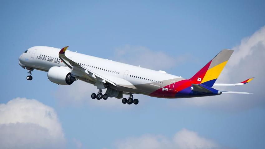 ASIANA AIRBUS A-350 Seattle T...