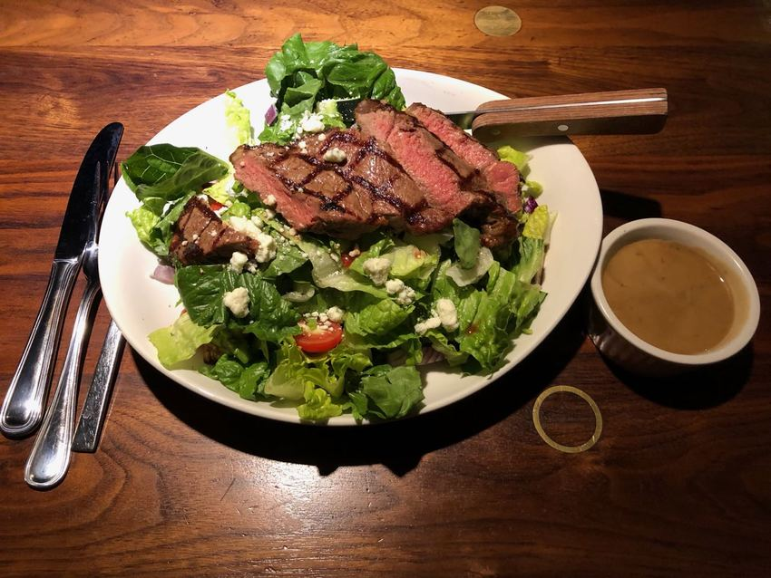 Steak Salad at 13 Coins in Bell...