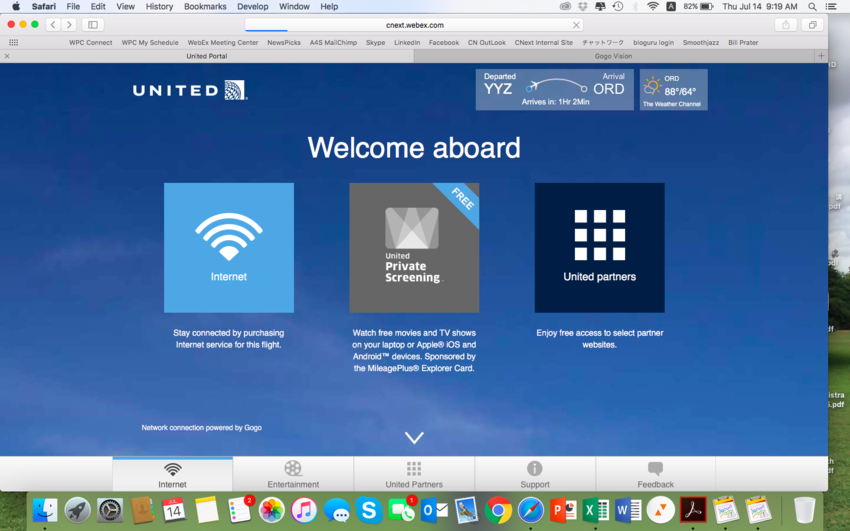 United Airline WiFi