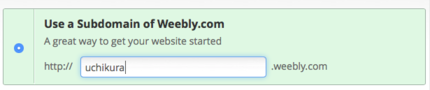 Using Weebly.com