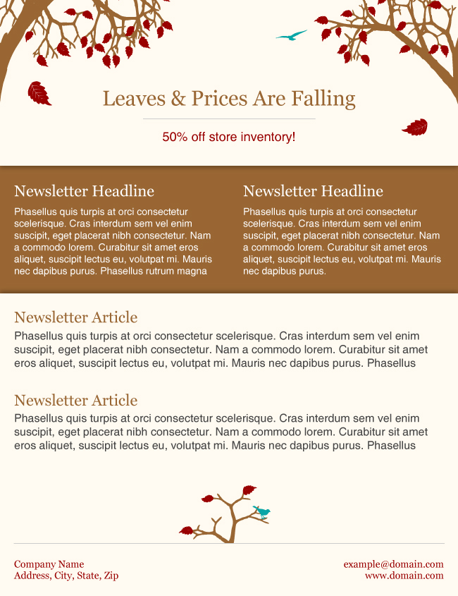 fall newsmail newsletter template pspinc official company blog