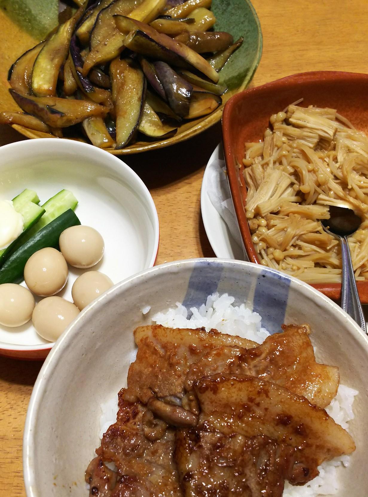 めんつゆ 豚 丼